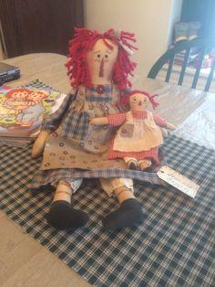 Ann Doll, Raggedy Ann, Rag Dolls, Doll Patterns, Annie, Sewing, Decor, Baby Dolls, Primitives