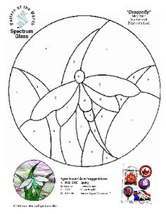 Free Printable Stained Glass Patterns DRAGON FLYS | to download a free copy of this pattern click here pattern is courtesy ...