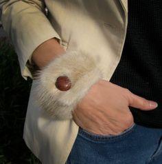 Luxurious Mink Fur Bracelet Cuff   Winter by PureAndSimplyMe, $30.00
