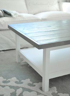 weathered gray top hemnes coffee table