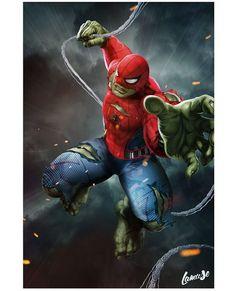 L A M U S E (@samuel_cheve) • Instagram photos and videos Comic Art, Comic Books Art, Book Art, Spiderman, Hulk, Deadpool, Avengers, Photo And Video, Comics