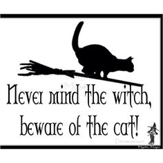 I need to make this sign for the back door. I'm thinking of changing Widdershins name to Dammit Cat!