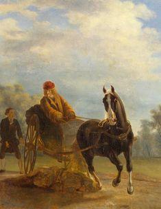 Voltaire en cabriolet - Jean Huber (1721-1786)