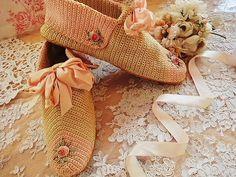 Anjo antigo e rosa | | - sapatos sala de trabalho fita antigo britânicos e franceses Eglantyne (Egurantinu)