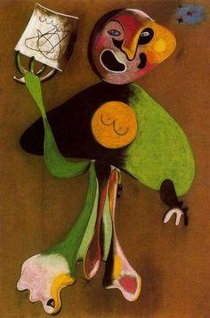 Joan Miró, Woman (Opera Singer), 1934  on ArtStack #joan-miro #art