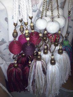 Borlas Borlas Tassel Necklace, Tassels, Jewelry, Ideas, Scarlet, Birth, Pendants, Hand Made, Jewlery