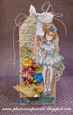 Prima doll  Becky   Julie Nutting Stamps Scrap & Photo
