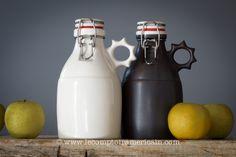 Growler noir et blanc en grès #madeinusa #americanproduct #lecomptoiramericain #american #design #black&white