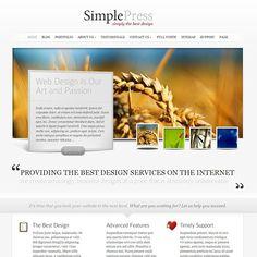 Simple Press - love the little testimonial bubbles