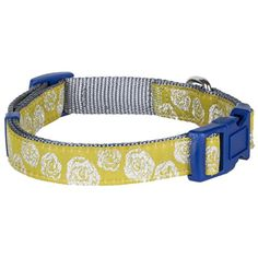 "Blueberry Pet Dog Collar Leash Harness 3/8"" X-Small Basic Polyester Nylon Dog Collar for Puppy with Silver Tinsel Roses - http://www.thepuppy.org/blueberry-pet-dog-collar-leash-harness-38-x-small-basic-polyester-nylon-dog-collar-for-puppy-with-silver-tinsel-roses/"