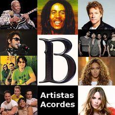 B (Lista de Artistas) canciones con letras y acordes de guitarra y piano