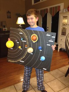 Aidan with solar system project