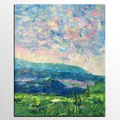 Mountain Landscape Painting, Large Wall Art, Landscape Painting, Original Artwork, Canvas Art Painting, Oil Painting, Art on Canvas