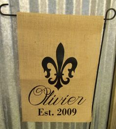 Fluer De Lis Garden Flag by treasures638 on Etsy