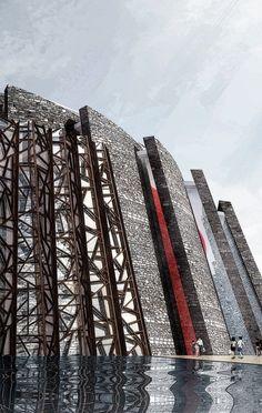 Wuzhen Grand Theater, water village in Zhejiang, China by Artech Architects