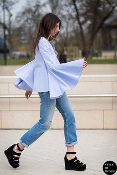 Enseñar tobillo es el truco definitivo para llevar vaqueros en primavera #denim #vaqueros