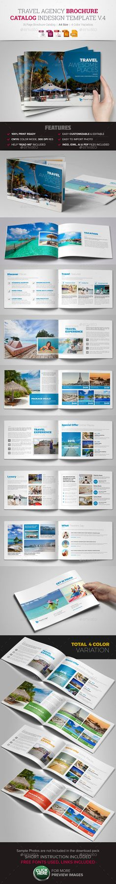 Travel Agency Brochure Catalog InDesign Template #design Download: http://graphicriver.net/item/travel-agency-brochure-catalog-indesign-v4-/13216832?ref=ksioks