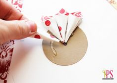 rolled paper flower christmas ornaments tutorial 5