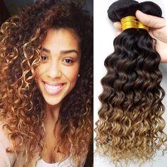 Tissage 말레이시아 깊은 파 처녀 머리 3 번들 상품 그레이스 헤어 제품 말레이시아 곱슬 곱슬 처녀 머리 금발 인간의 머리