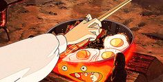 지브리 애니메이션의 매혹적인 먹방 14개(GIF)
