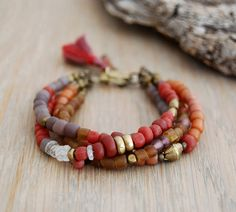boho bracelets | boho bracelet - multi strand beaded bracelet - gypsy jewelry ...