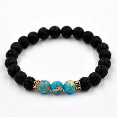 Lava Stone Poison Bracelet. Metal BraceletsBracelets For MenBeaded  BraceletsBanglesYoga BraceletStone BraceletStone BeadsNatural StonesMen  Necklace 7bcf153da080