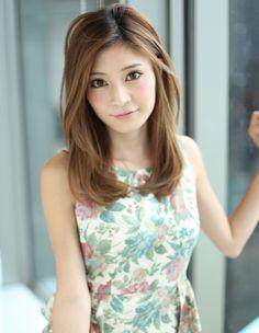 Bangs long hair (NB-649) / bangs long hair (NB-649) | Hair Styles | [beauty salon in Ginza] AFLOAT JAPAN / Float [Japan Chuo-ku, Tokyo]
