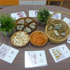 Cultural based numeracy; a calm and inviting tabletop activity for children with exposure to numerals early on.