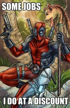 lol Deadpool, just hope that he didnt KILL Chell to get the portal gun.