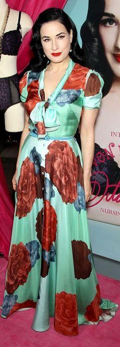 Dita von Teese In Carolina Herrera – Von Follies Collection For Destination Maternity Launch Event