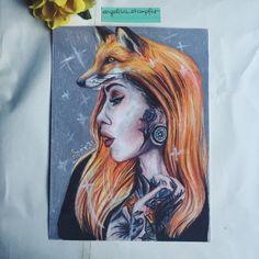 Fox x tattooed beauty X Tattoo, Art Projects, Fox, Photo And Video, Painting, Beauty, Instagram, Art Designs, Beleza