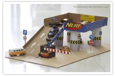 DIY | CARDBOARD GARAGE (in Thai) | DIY 2: http://spoonful.com/crafts/park-and-play-garage | DIY 3: http://lafactoriaplastica.com/?p=9611 | DIY CAR WASH: http://www.tamingthegoblin.com/2012/04/kids-co-op-link-up-5-for-me.html