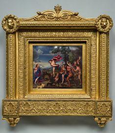 Bone Bacchus & Ariadne CMA main image sm Antique Picture Frames, Antique Frames, Wood Picture Frames, Framed Art, Framed Prints, Stuck, Miniature Portraits, Enamel Paint, Renaissance Art