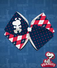 Peanuts - Snoopy Argyle Cut-Out - Red/Navy Quad