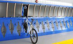 Secure Compact Bicycle Storage Rack Stand & Locker: Some sort of inside, secure bike storage--bike locker