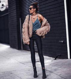 Chunky Knit + Velvet