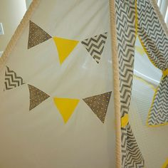 » Chevron Yellow & Grey Teepee Littlefierce