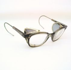 57418f37f1 1940s Safety Glasses Goggles Steampunk Eyewear by WhimzyThyme Remember  these from Industrial Arts or Shop Class