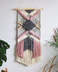 Ideas Wall Tapestry Woven Fiber Art For 2019 Weaving Textiles, Weaving Art, Tapestry Weaving, Loom Weaving, Wall Tapestry, Hand Weaving, Weaving Wall Hanging, Wall Hangings, Weaving Projects