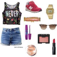 """""""Casual and flowery outfit"""" by enjoyfashion22 on Polyvore"""