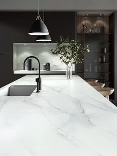 Gallery of Surfaces - Dekton® Natural Collection - 33 Luxury Kitchen Design, Kitchen Room Design, Home Decor Kitchen, Interior Design Kitchen, Home Kitchens, Kitchen Ideas, Kitchen Modern, Modern Farmhouse, Farmhouse Decor