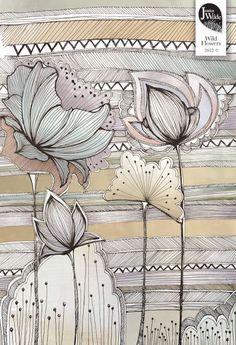 Illustration - Jessica Wilde Dibujos Zentangle Art, Zentangle Drawings, Zentangle Patterns, Doodle Drawings, Doodle Art, Zentangles, Art And Illustration, Floral Illustrations, Art Zen