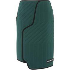 Balenciaga Scuba Skirt (1,535 CAD) ❤ liked on Polyvore featuring skirts, green, balenciaga skirt, balenciaga and green skirt