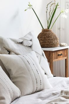 Linen pillows in various shapes and sizes. Hand embroidered by female artisans sharing their skill traditions with you! Linen Pillows, Decorative Pillows, Cushions, Throw Pillows, Cushion Covers, Shapes, Female, Bedroom, Design