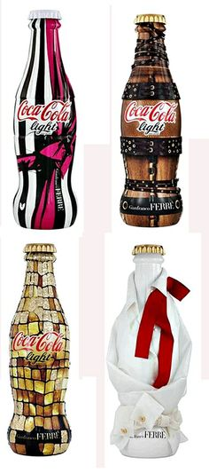 Gianfranco Ferre Designs Coca Cola Bottles