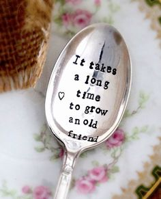 Hand Stamped Spoon Vintage Silverplate  made to by Blithevintage, $13.50