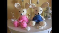 crochet tutorial for rabbit ♥ Knitted Doll Patterns, Knitted Dolls, Crochet Patterns Amigurumi, Amigurumi Doll, Crochet Dolls, Rabbit Crafts, Dou Dou, Crochet Rabbit, Amigurumi Tutorial