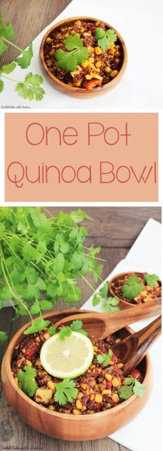 C&B with Andrea - One Pot Quinoa Bowl vegan - www.candbwithandrea.com - Collage