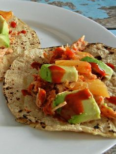 Crock Pot Chicken Tacos from The Tasty Fork