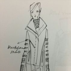 BSUN x Blackglama sketch for AW13 sneak peek @blackglama_girl @mbfashionweek #NYC #womenswear #MBFW Brandon Sun Sketch